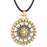 Pandantiv viking kolovrat simbol slavic roata soarelui gold