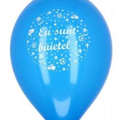 Baloane botez Eu Sunt Baietel albastru inchis 30cm set 20 buc