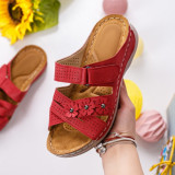 Papuci dama rosii MDL00600