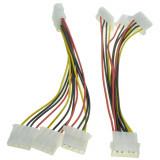 Cablu multiplicator molex (ide) 1 tata la 3 mama, 15cm, spliter molex