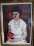 FATA CU PAPUSA, ULEI PE PANZA, PICTOR GEORGE STEFANESCU RAMNIC, Portrete, Impresionism, General