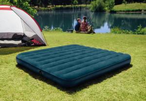 Saltea gonflabila Intex + pompa + 2 perne, pentru camping, 2 persoane, 203 x 152 x 25 cm