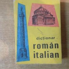DICTIONAR ROMAN-ITALIAN de ALEXANDRU BALACI , Bucuresti 1998