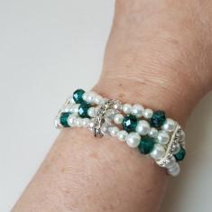 Bratara de perle de sticla in stil victorian