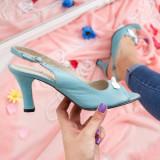 Sandale Piele Gilead turcoaz