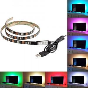Kit Banda LED SMART1 TV 24-60 pentru Iluminare Ambientala Fundal RGB in Spatele Televizorului Backlight cu Mini Controller