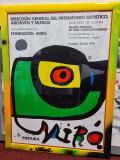 Afis expozitie Joan Miro - 1978 - în stare perfecta, înrămat, Abstract, Acuarela