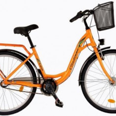 Bicicleta Dama DHS Citadinne 2636, Cadru 18.9inch, Roti 26inch (Portocaliu)