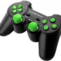 Controller Esperanza EGG106G, PC/PS2/PS3 (Negru/Verde)