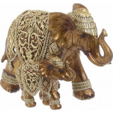 Elefanti decor din rasina Gold