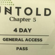 Bilete untold 2019 ( 2 bucati pt 4 zile fiecare)