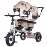 Cumpara ieftin Tricicleta gemeni Chipolino 2Play mocca