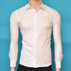 Camasa Slim Fit barbati alba cu model - Camasa barbati ZR73