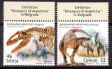 SERBIA 2009, Fauna, Animale preistorice, Dinozauri, serie neuzata, MNH, Nestampilat