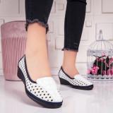 Pantofi dama cu platforma albi Igonia