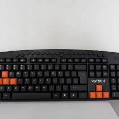 Tastatura Multimedia Rotech cu butoane portocalii