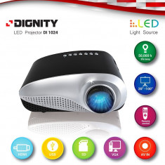Video Proiector LED, Conectare la TV si PC sau Diverse Surse Video, Sub 1499