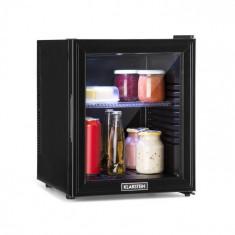 Klarstein Brooklyn 32L, frigider, ușă de sticlă, cu inserție din plastic, negru