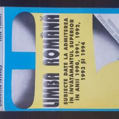 LIMBA ROMANA - SUBIECTE INVATAMANTUL SUPERIOR - Dumitru Ivanus, 1995