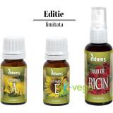 Uleiuri Cosmetice Vitamina A + Vitamina E + Ulei de Ricin Pachet Promo