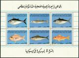 LIBIA 1992 FAUNA MARINA PESTI, Nestampilat