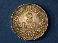 Romania 2 LEI 1875 argint Carol I foto