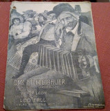 Der Fidele Bauer. Opereta  de Leo Fall, libret de Victor Leon - Partitura veche