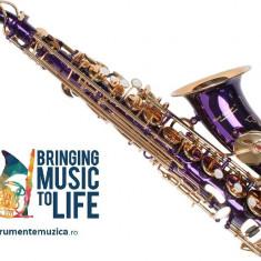 Saxofon Alto Karl Glaser LILA/MOV+ AURIU NOU curbat Saxophone Germania