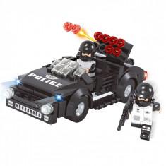 Set cuburi Lego,actual investing, model masina de politie, 146 piese