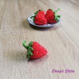 Capsuni fructe jucarie copii handmade crosetata bumbac