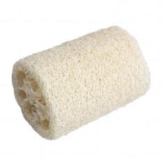 Burete natural, din lufa, forma cilindrica, pentru baie, 10 x 6 cm
