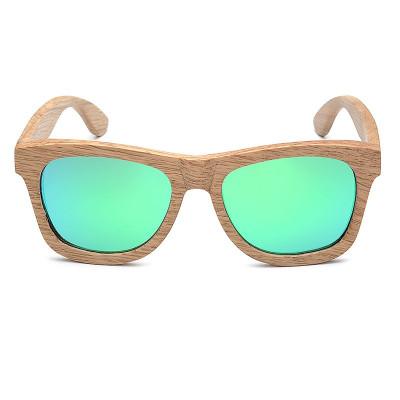 Ochelari de soare din lemn Bobo Bird AG007, lentila verde foto
