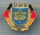 "AX 269 INSIGNA - TURISM MONTAN -DRUMETIE MONTANA- ,,DWB"" 2000 KM"