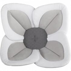 Cadita de plus si salteluta de joaca Lotus BloomingBath, alb/gri