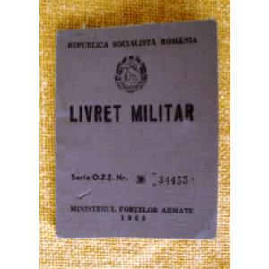 Livret  militar  ofiter   armata  RSR