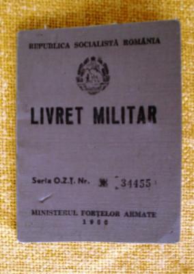 Livret  militar  ofiter   armata  RSR foto