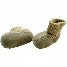 Botosei din piele si blanita de miel cu mansete tricotate - Marime 20 Altabebe MT4033L-01 B360632