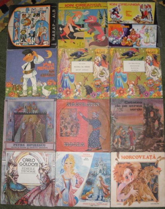 vinyl Povesti,basme Creanga,Ispirescu,Grimm,Andersen,J Verne,Slavici,Alba ca Zap