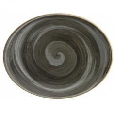 Farfurie ovala din portelan, 31 cm, Bonna Space, 010171