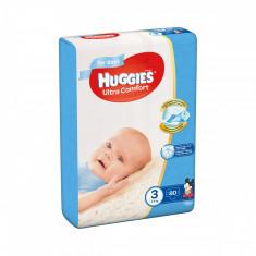 Scutece Huggies Mega Comfort Boys, Nr 3, 5 - 9 Kg, 80 buc