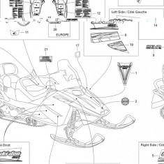 Abtibild 2006 Ski Doo Mx-Z 380F nr.11 Cod Produs: MX_NEW 516003024SK
