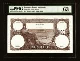 ROMANIA 100 LEI - FEBRUARIE 1940 NECIRCULATA . GRADATA 63 UNC . FIL BNR. RARA !!