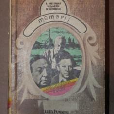 MEMORII - B.PASTERNAK , V. KAVERIN , M. SLONIMSKI 1978