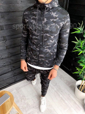 Trening barbati Camuflaj US ARMY - Bluza si Pantaloni Conici - Calitate Premium foto