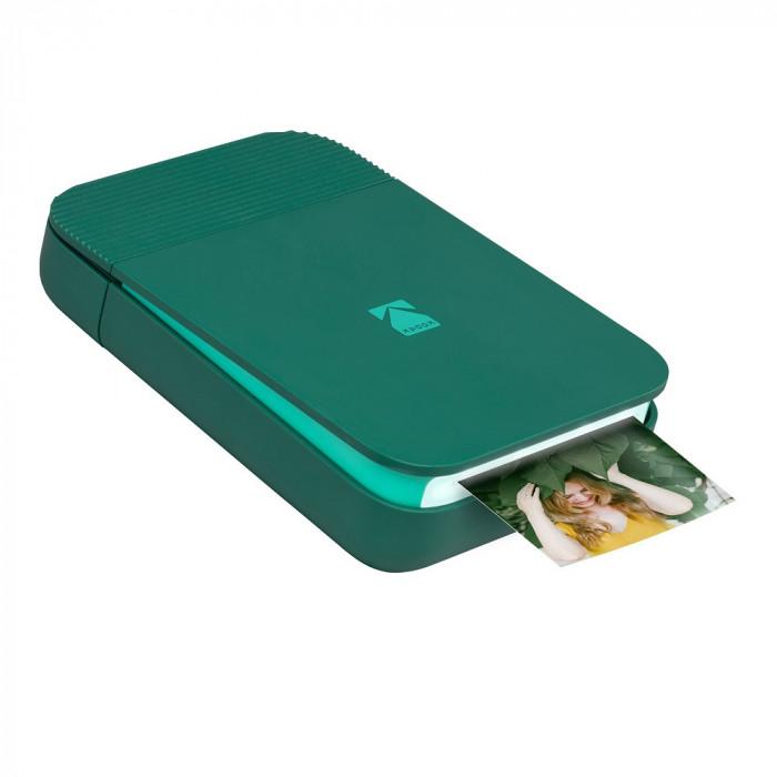 Imprimanta foto portabila Kodak Smile, Bluetooth, Verde, Imprimare Termica
