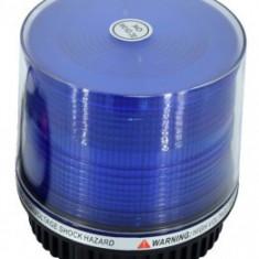 Girofar 12V albastru cu LED-uri functie stroboscopica