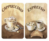 Set 2 planse protectoare pentru plita Coffee - Wenko, Maro