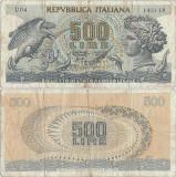 1967 (20 X), 500 lire (P-93a.2) - Italia!