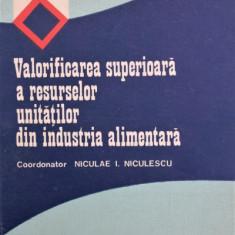 VALORIFICAREA SUPERIOARA A RESURSELOR UNITATILOR IN INDUSTRIA ALIMENTARA, NICULAE I. NICULESCU