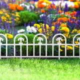 Bordura pt. pat de flori gard - 60 x 30 - alb